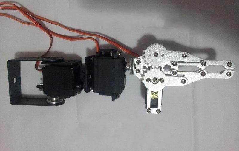 3 DoF Robot Arm Robotic Manipulator Metal Mechanical Claw Servo Steering Gear DIY RC Toy Robotics Part DIY RC Toy Tank Chassis
