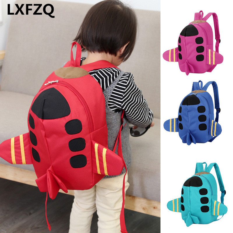 Mochila Feminina Backpacks Printing Backpack Bag Children's Backpack 4Colour School Bags Cartoon Plane Backpack For Girls Rugzak