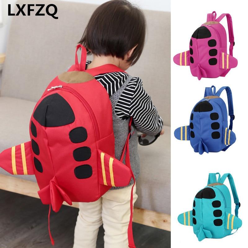 Mochila Feminina Backpacks Printing Backpack Bag Children's Backpack 4Colour School Bags Cartoon Plane Backpack For Girls Rugzak