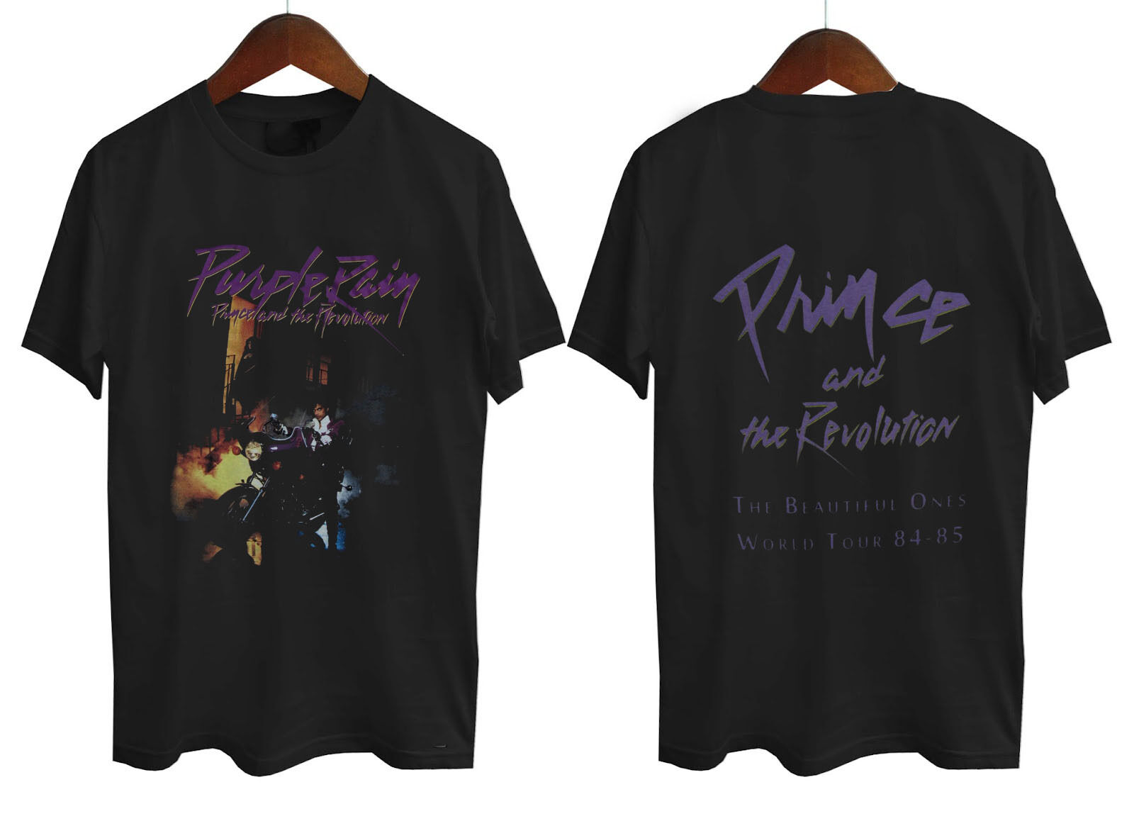 Prince - Purple Rain Tour 84-85 N T-shirt  Short Sleeve T Shirt Cotton Top Tee Cotton Cool Design 3D Tee Shirts Plus Size