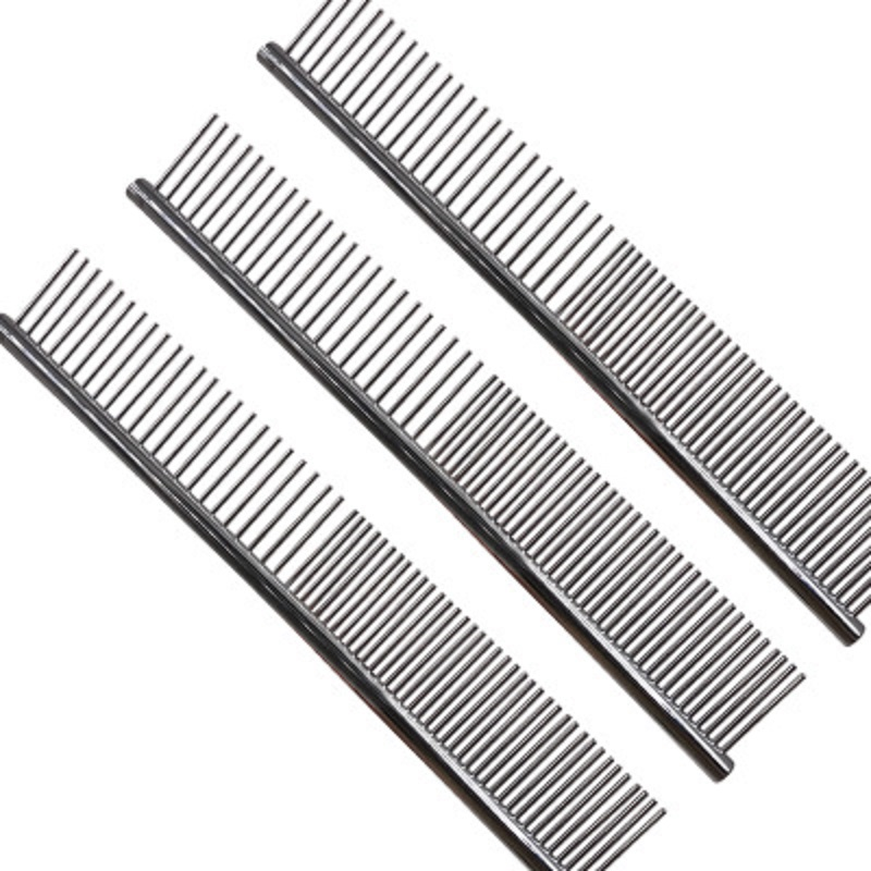 Stainless Steel Lightweight Dog Combs Long Thick Hair Fur Removal