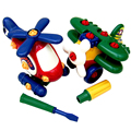 1 unids asamblea avión de juguete diy niños niños toys regalo de desmontaje y montaje de avión de dibujos animados niño plástico toys
