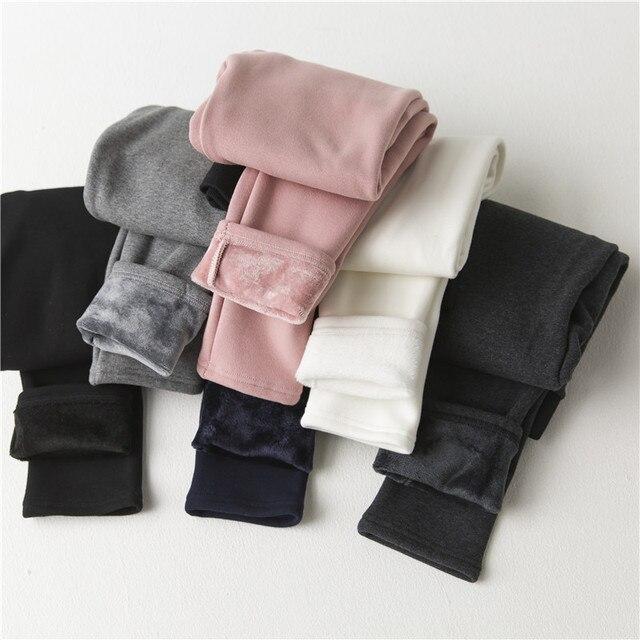 2016 NEW plus velvet thick leggings women girls pencil pants Casual Autumn Winter warm Knitted Thick Slim soft Legging 1066