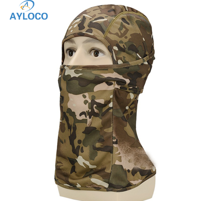 New Army Tactical Training Hunting Quick Dry Multi-functional Hood Mask Paintball Scarf Camouflage Breathable Chief Full Face ...