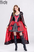 TITIVATE Halloween Vampire Zombie Costume Ghost Floral Costumes Luxury Hen Party Carnival Cosplay Fancy Dress Outfit