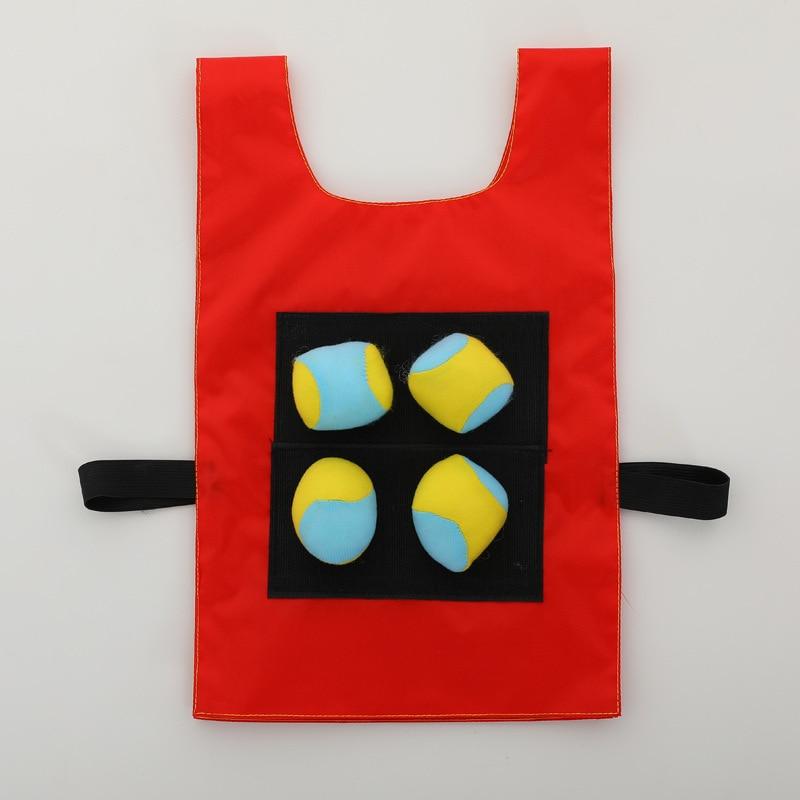 Children's Outdoor Toys Sticky Jersey Vest Sticky Ball Kindergarten Parent-child Interaction Avoidance Game Props