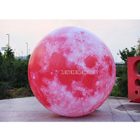 4m Height Oxford Giant Inflatable Ball LED Light Balloons Moon Air Model for Advertising Decoration With Air Blower 220V/110V