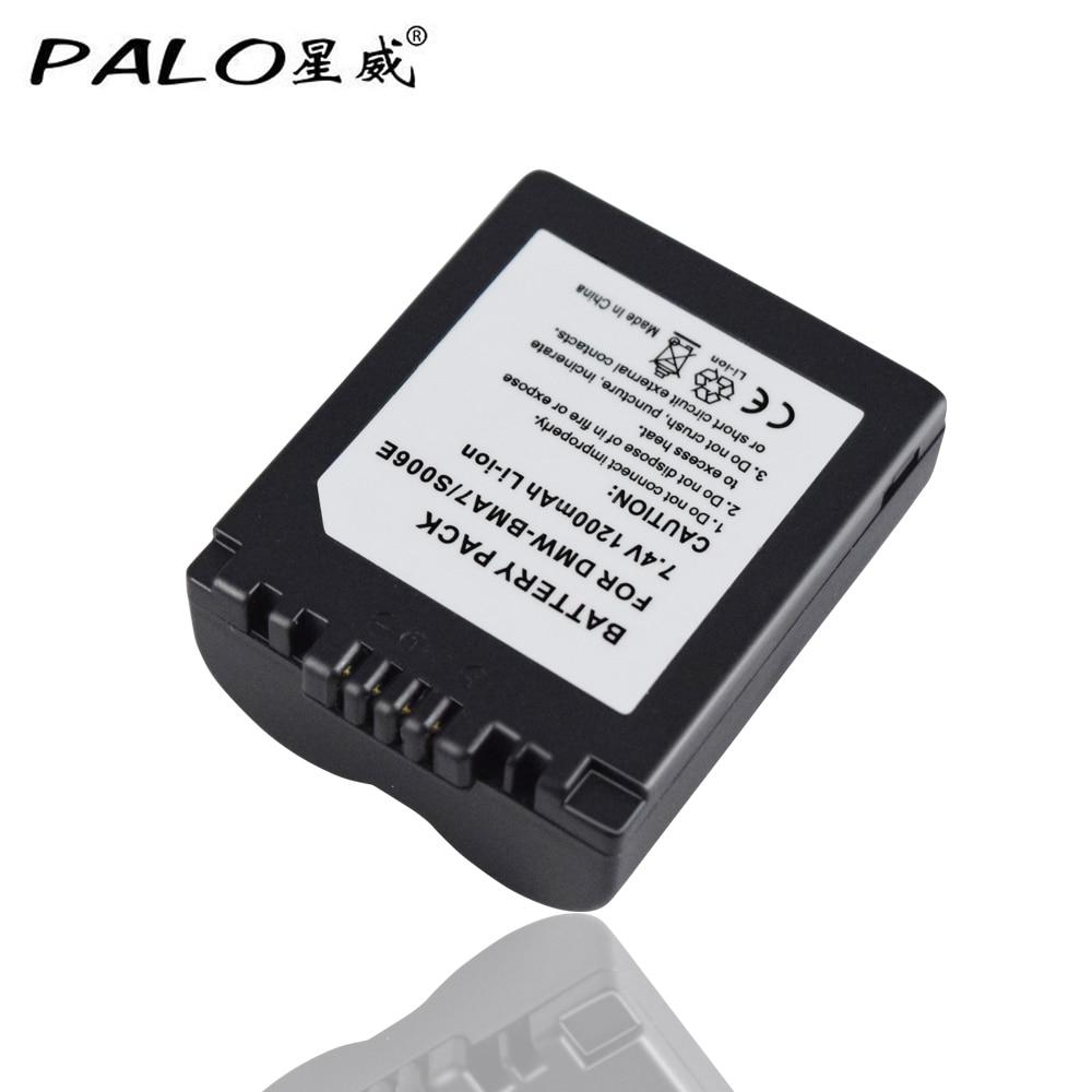 4Pcs CGA-S006 CGR CGA S006E S006 S006A DMW-BMA7 DMW BMA7 Battery for Panasonic DMC FZ7 FZ8 FZ18 FZ28 FZ30 FZ35 FZ38 FZ50 SLR
