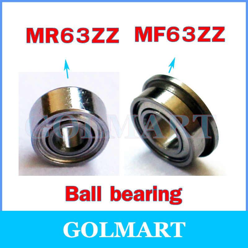 MR63ZZ 3x6x2.5mm 20 Pcs Metal Double Shielded Ball Bearing Bearings 3*6*2.5