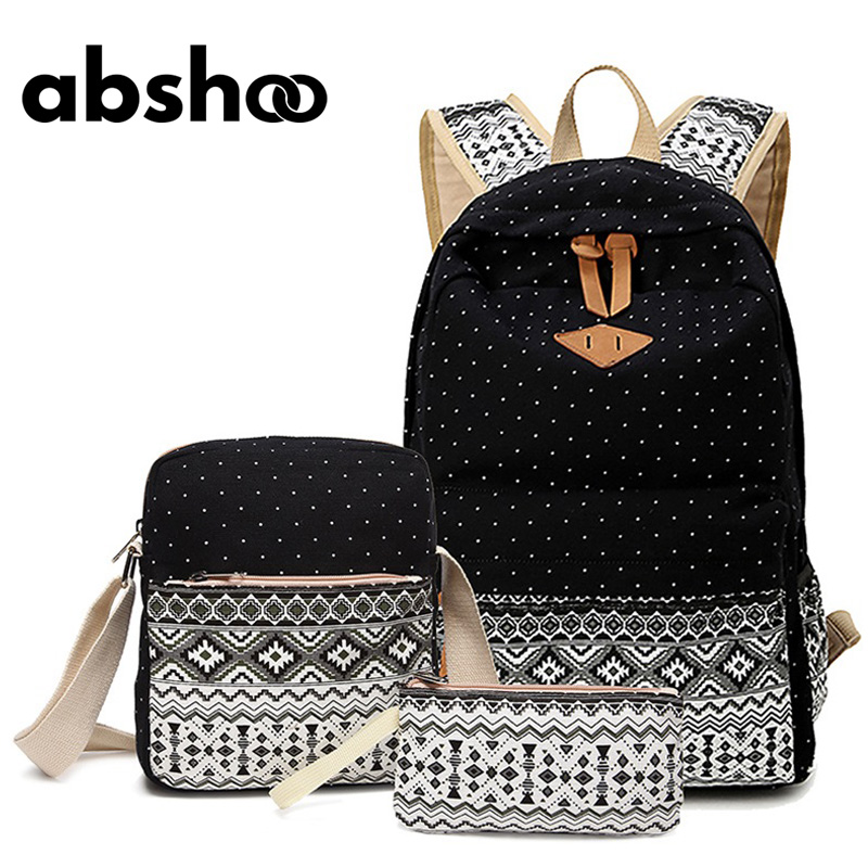 Women s Canvas Backpacks For School Teen Girls Backpack Sets School Bags  Cute Girls School Backpacks 3d6c01a3469af
