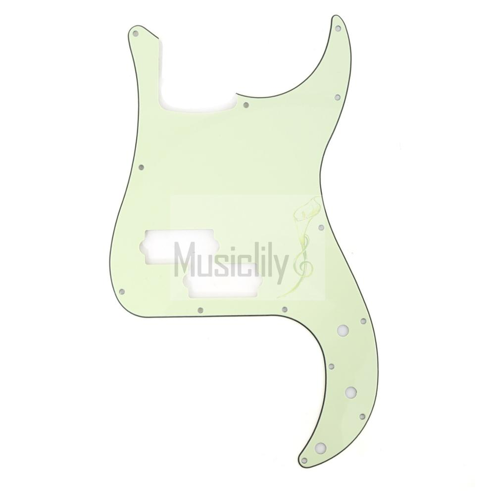 Mint Green 3Ply 4 String Electric Bass Pickguard For US/Mexico Standard PB Precision Bass kylie jenner style ombre mint green