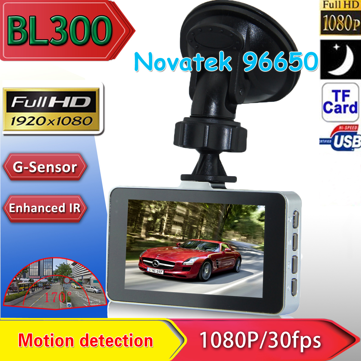 BL300 3.0 TFT 1080P 170 Degree Car DVR Vehicle Camera Driving Recorder G-sensor H.264 WDR SOS Motion Detection IR Night Vision цена