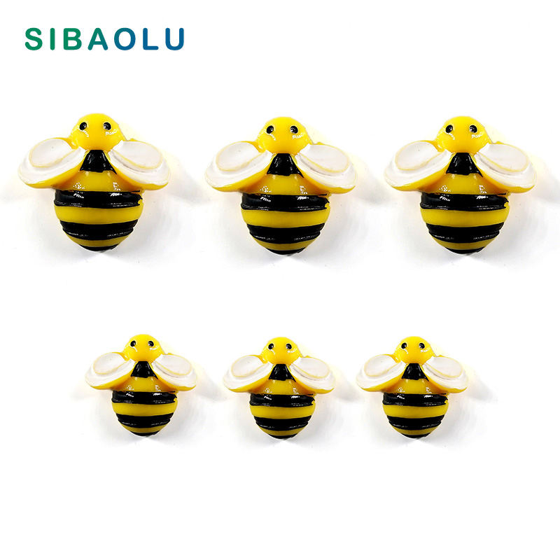 6pcs Yellow Bee Fridge Magnet Cartoon Animal Whiteboard Sticker Resin Refrigerator Magnets Child Home DIY Decoration Accessories