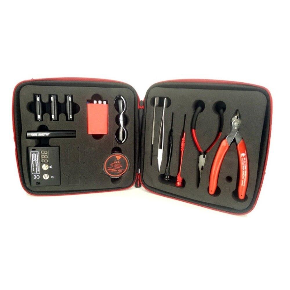 13 Pz/set Aggiornamento Bobina Master Kit Fai Da Te All-in-one Coilmaster V3 + Sigaretta Elettronica Rda Atomizzatore Bobina Borsa Degli Attrezzi Accessori