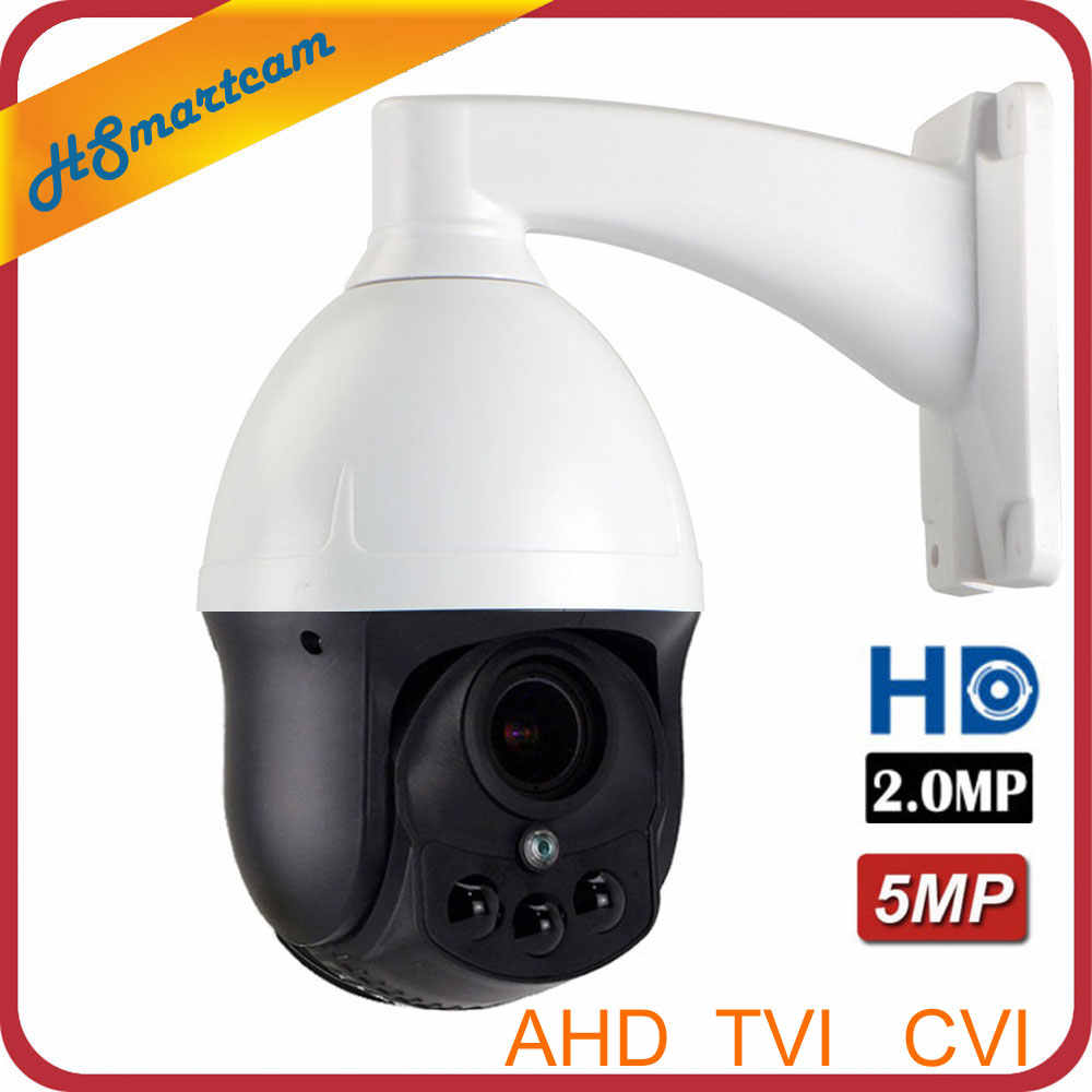 5.0MP CCTV Outdoor Keamanan AHD 1080P 2.0MP Mini Tahan Air Dome Kamera 4X Zoom 2.8-8 Mm Auto fokus Pantilt Memutar Kamera