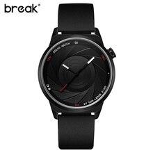 ROMPER Creativa de Goma Correa de reloj de Pulsera Para Hombre Relojes de Primeras Marcas de Lujo Reloj Deportivo Hombres de Cuarzo Reloj de Pulsera Reloj Hombre 2016