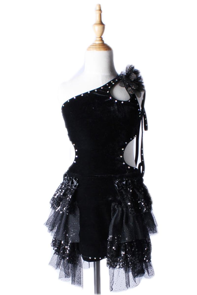 Costumes de Danse Latine professionnelle Robe femmes pour filles adultes Wmomen enfants jupe noir Dancewear Robe Danse Latine Femme
