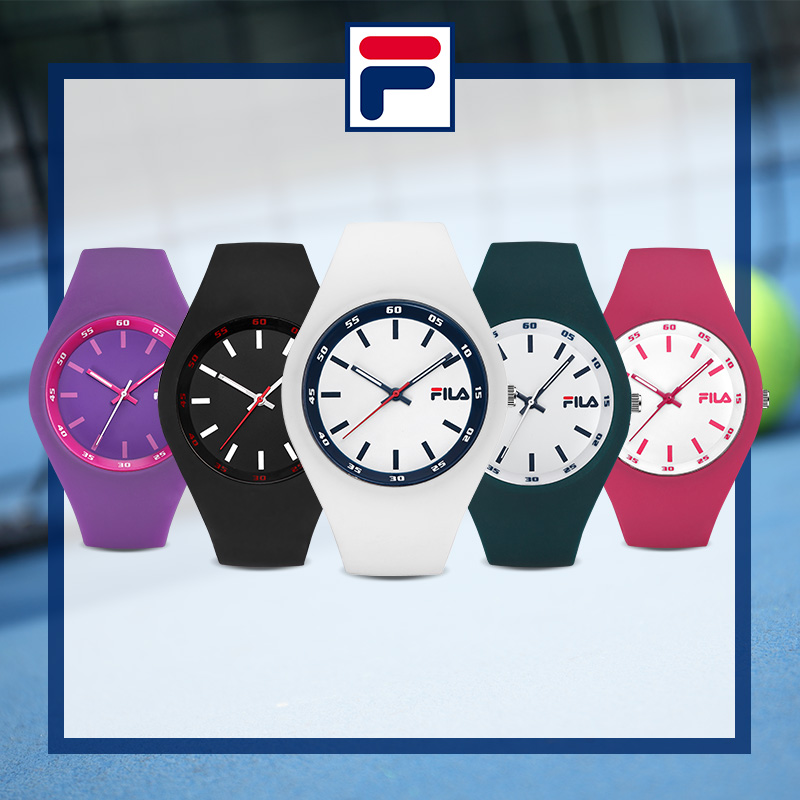 Fila 2017 Top Brand Fashion High Quality Casual Simple Style Silicone Strap Quartz Watch Women Men