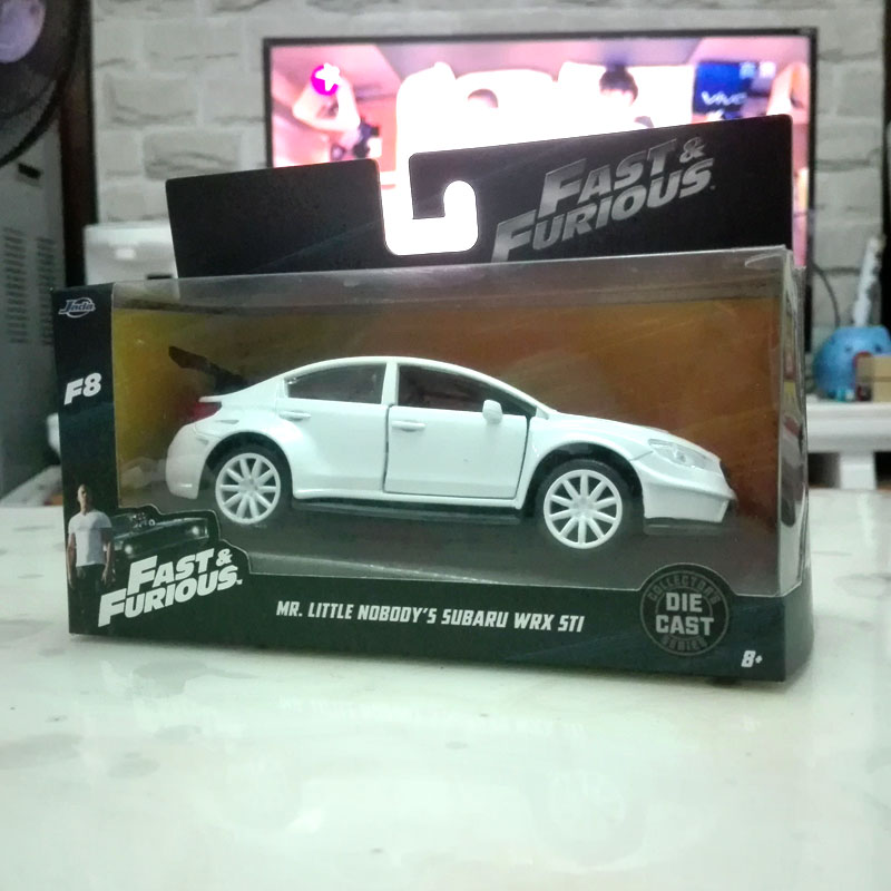 brand new jada 132 scale the fate of the furious 8 mr little nobodys subaru wrx sti diecast metal car model toy for giftkids