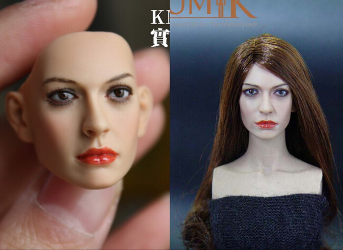 1/6  Headplay Female Head Carving Model CG CY Girl Head Sculpt KM35 For 12 Action Figure Collection Doll Toys Accessories dreamer 1 6 beautiful female headplay head sculpt cg cy girl avril lavigne head carving f 12 hot toys phicen kumik action body