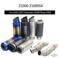 For 2010 2017 Kawasaki Z1000 Ninja 1000 Exhaust Pipe Slip On 51 mm Motorcycle Escape for Left Right Side Exhaust Tips Modified