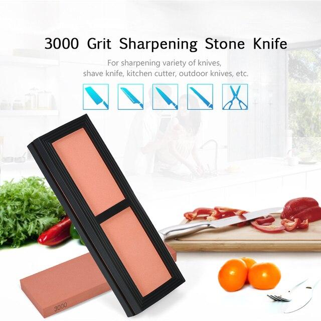 נייד אבן משחזת סכין חידוד אבן 3000 חצץ חידוד אבן סכיני ליטוש אבן עם גומי אבן מחזיק 180*60 * 15mm