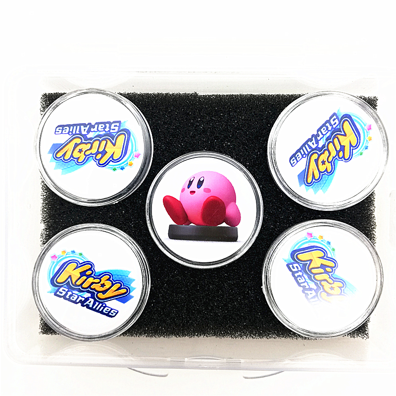 New Data Including Qbby Box Boy 5Pcs/lot NFC Card For Amiibo Kirby Star Allies Game Collection Coin Card Ntag215 Sticker Tag