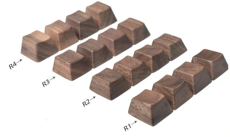 Mechanical keyboard keycaps walnut solid wood keycap blank print wooden keycap spacebar OEM Esc Cherry mx game keyboard keycap h1z1 battle royale game keycap r4 height alloy full metal keyboard keycaps for cherry mx switches teclado mecanico keycaps