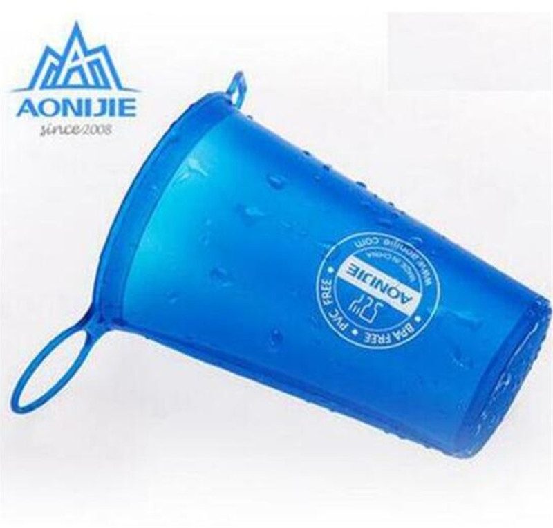 AONIJIE Foldable Soft Water Cup Outdoor Sports Marathon Cycling Camping Running Outdoor Sport Camping Climbing Drink Water Bags in Water Bags from Sports Entertainment