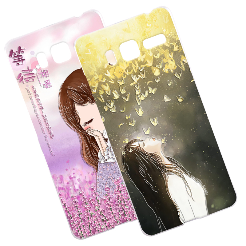 Lovely Cat 3D Relief Case Cover For Lenovo A8 A806 A808T Golden Warrior Retro Fish Flower Hard Phone Shell For Lenovo A916