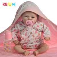 So Lovely 16 Inch Reborn Baby Doll Toy Real Like Smile Girl Soft Silicone Reborn Babies Alive bebe Cloth Body Reborn Boneca Doll