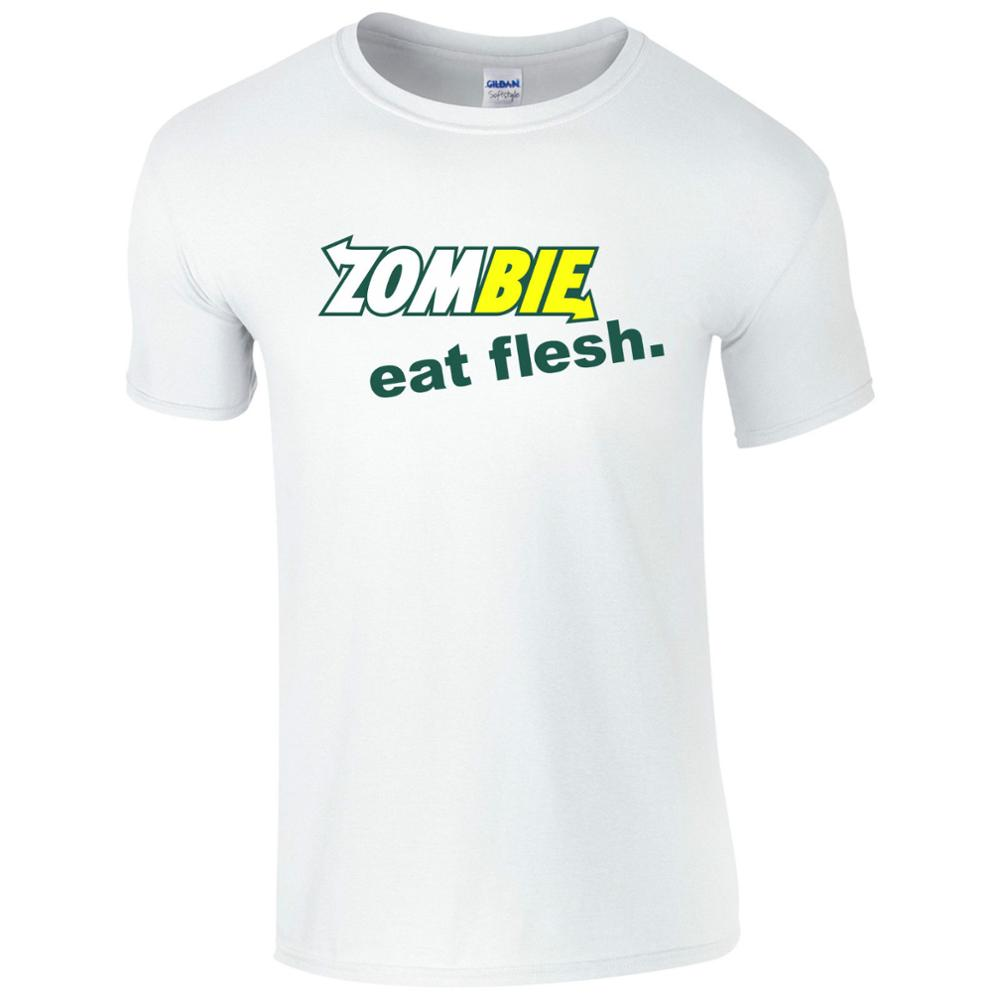 79ee9c97f6 Zombie Eat Flesh T shirt Funny Halloween Subway Fresh Inspired Gift Men Top  Print T Shirt Man Short Sleeve Tshirt -in T-Shirts from Men's Clothing on  ...