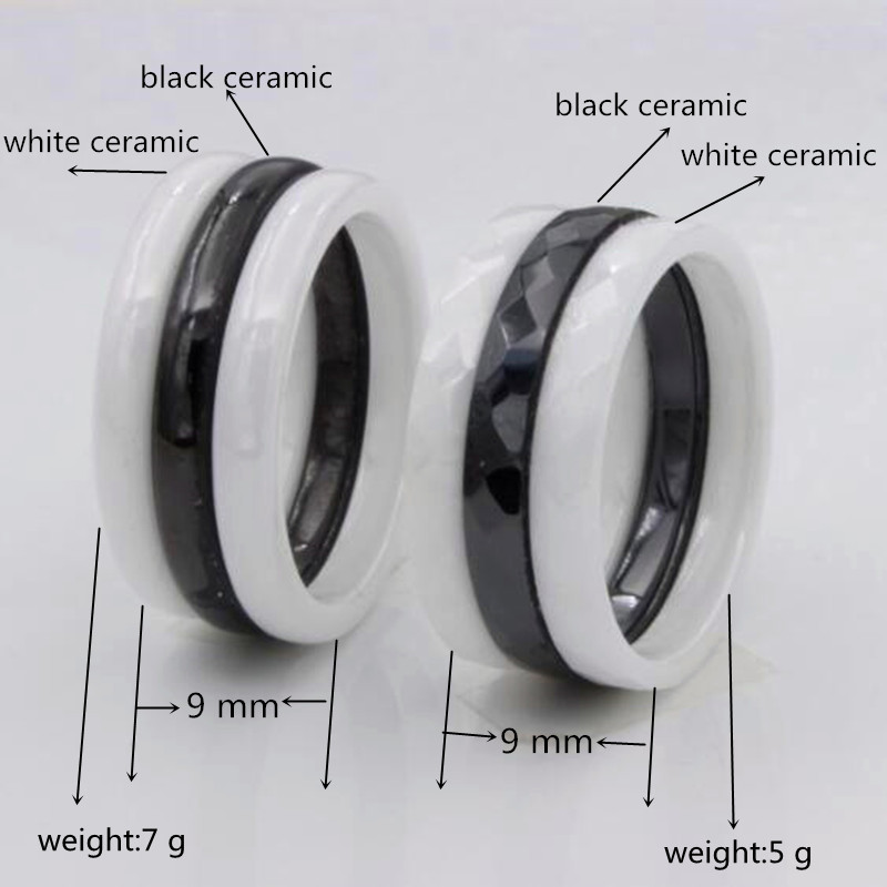 Love Rings For Black And White Ceramic Ring Men Women Engagement Promise Wedding Band Gifts Menceramic Jewelry Bague In From