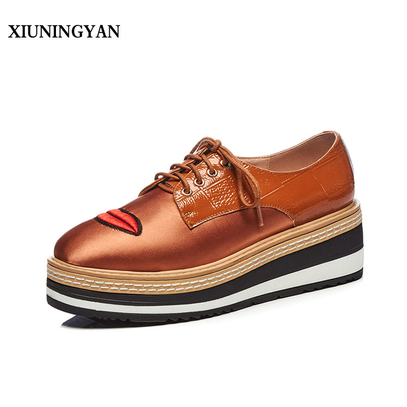 Low Heel Stitching Lace Up Casual Shoes cheap sale order buy cheap Inexpensive QJS1CyxbR