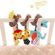 Newborn Infant Toys Lovely Animal Baby Crib Revolves Around The Bed Stroller Playing Toy Car Lathe Hanging Baby Rattles&Mobile