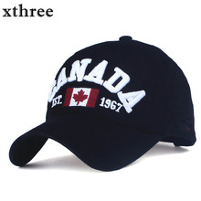 XTHREE brand canada letter embroidery Baseball Caps Snapback hat for Men women Leisure Hat cap wholesale(China)