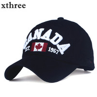 2016 Brand Canada Letter Embroidery Baseball Caps Snapback Hat For Men Women Outdoor Leisure Sport Hat