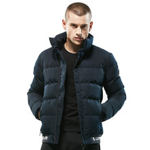 MORUANCLE New Men's Winter Thick Warm Parkas High Quality Fleeced Lined Thermal Jackets And Coats Stanf Collar Size M-XXXL