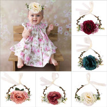 Kids Girls Baby Toddler Turban Flower Hat Cap Headband Hair Band Headwear Princess Toddler Kids Infant Head Wrap Headband Cap