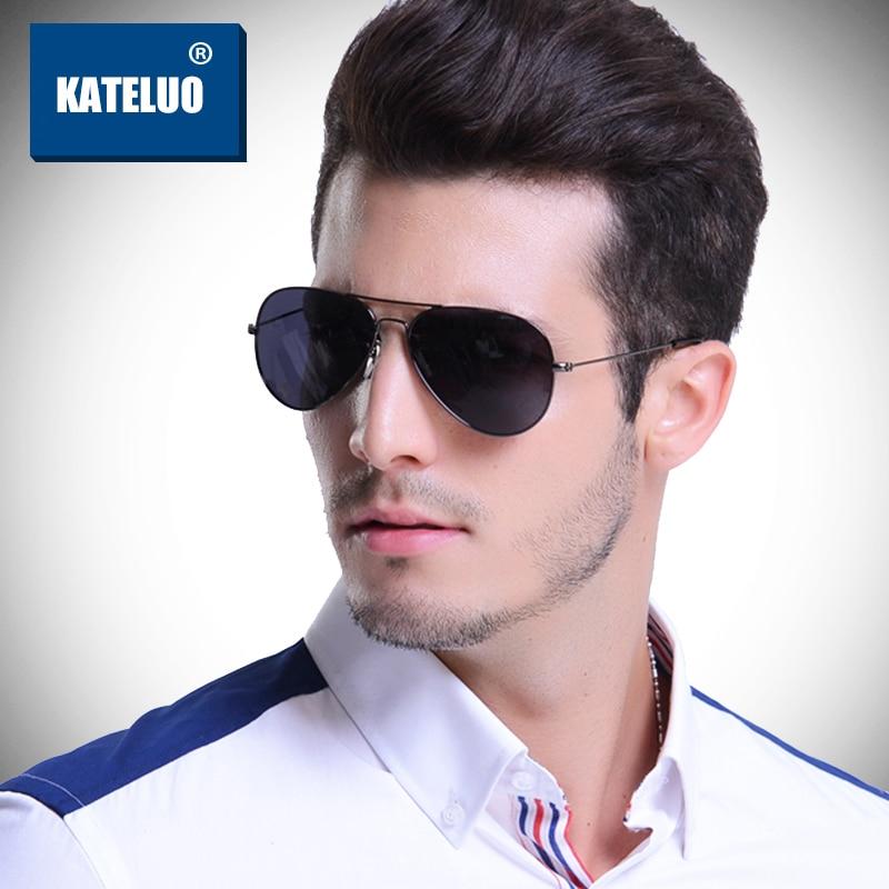 KATELUO Brand HD Polarized Sunglasses Men's Pilot Aluminum Glasses Male Classic Sun Glasses Eyewear Accessories For Men oculos