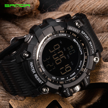 SANDA Men Sports Watches Countdown Double Time Watch Alarm Chrono Digital Wristwatches 50M Waterproof Relogio Masculino Gifts skmei brand digital watch men sports watches countdown double time wristwatches relojes 50m waterproof relogio masculino 1251
