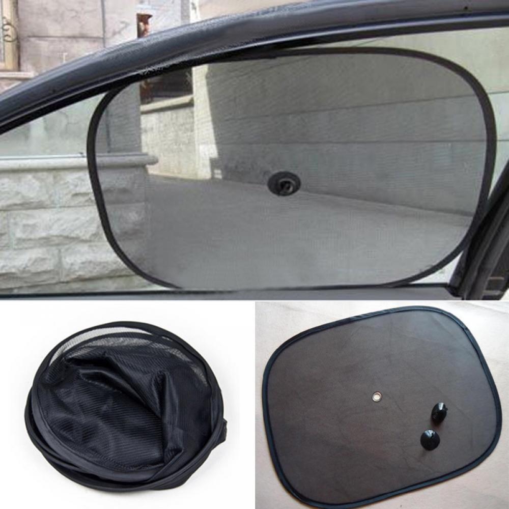 2PCS Useful Mesh Car Black Side Car Sun ShadeRear Window Sun Shade Cover Visor Shield Screen automobiles accessories