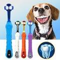 Мягкая зубная щетка для собак  зубная щетка для кошек  двусторонняя резиновая зубная щетка для собак  инструмент для зубного камня  аксессуа...