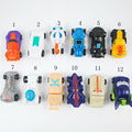 12PCS/Set Transformation Mini Car ABS Robot Toys Action Figures Toys Sports Car Transformation Robot Animation Kids Gift In Box