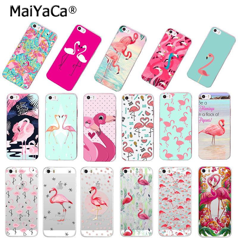 MaiYaCa Be a pink <font><b>red</b></font> Flamingo bird phone <font><b>case</b></font> Accessories cover soft tpu for <font><b>iPhone</b></font> 8 7 <font><b>6</b></font> 6S <font><b>Plus</b></font> X 5S SE 5C XS MAX XR Cover image