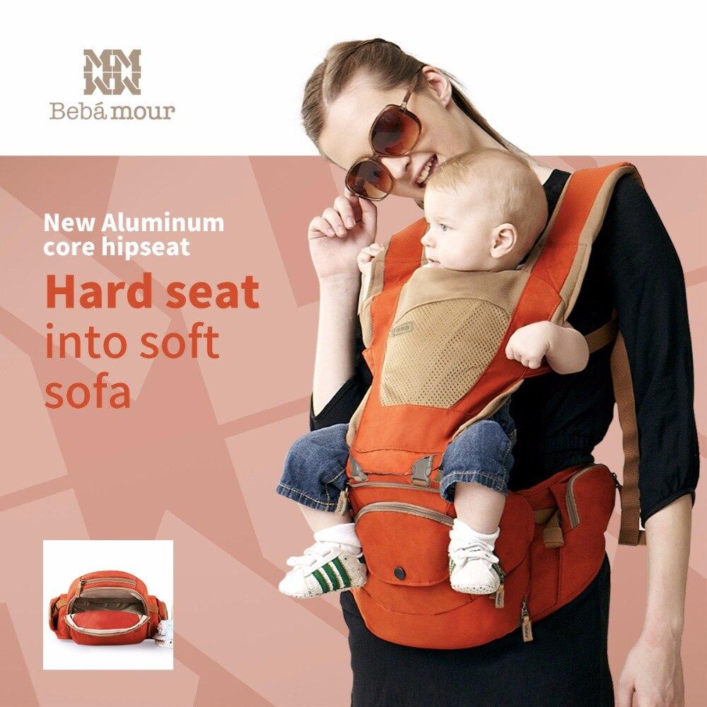 Bebamour Del Bambino Seggiolino Da Anca Hipseat Bambino Staccabile Sling Nuovo di Alluminio di Aeronautica di Riempimento Hip sedile 6 In 1 Portante di Bambino Respirabile