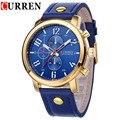 Curren hombres deportes relojes de cuarzo para hombre relojes de primeras marcas de lujo del relogio masculino hombres curren relojes de pulsera de cuero 8192