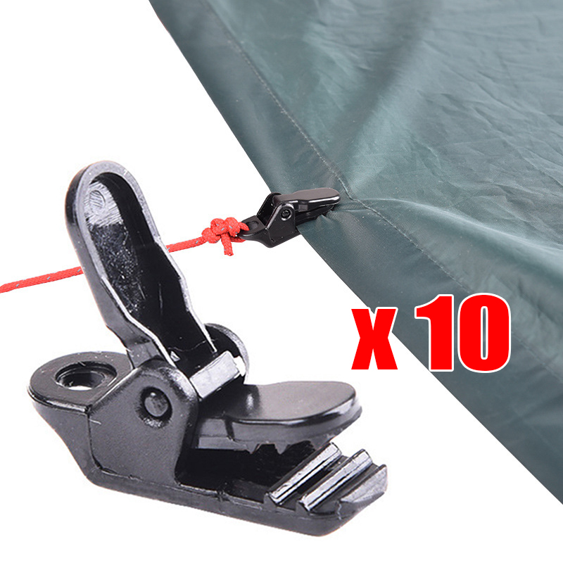 10pcs Alligator clip Lightweight Outdoor Car Nylon plastic Snap Holder Tool Canopy Tent Camping clamp