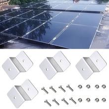 Solar Panel Z-shaped Aluminum Alloy RV Flat Roof Accessories Boat Motorhomes Lightweight Mounting Bracket Set Easy Install цена