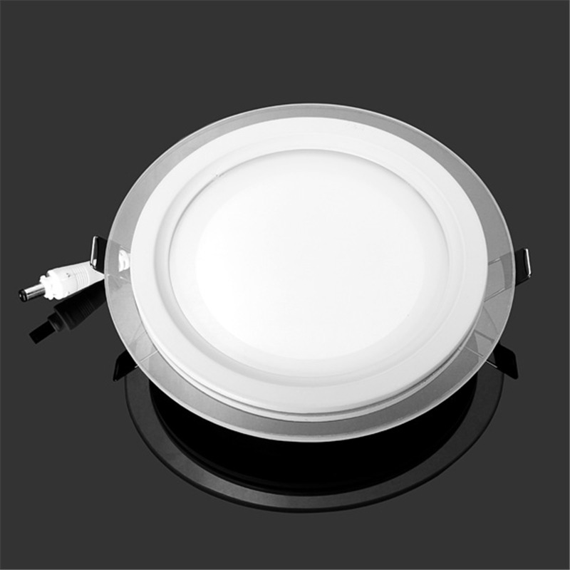 18 Watt LED Panel Downlight Round Glass Panel Lights Ceiling Recessed Lighting Lamp AC85-265 With <font><b>adapter</b></font> image